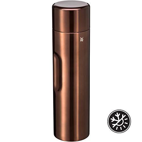 WMF Motion Isolierkanne 1,0l Cromargan Edelstahl, für Tee oder Kaffee, Thermosflasche mit Trinkbecher, hält 24h kalt & 12h warm, kupfer