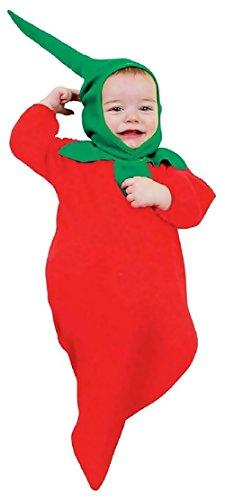 0-12 mesi - Costume - Travestimento - Carnevale - Halloween - Peperoncino piccante - rosso - Vegetale - Bambino - Neonato