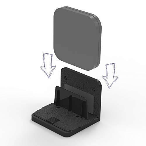 sciuU Soporte de Pared Universal, para TV Box/Switches de Red/Routers/Módems, Compatible con Apple TV, Sky Q Mini, etc. Estante Mural, Instalación con Adhesivo 3M o Tornillos, Negro