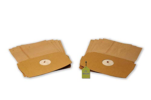 eVendix Staubsaugerbeutel passend für LUX D790 - D795 (Royal), 20 Staubbeutel, kompatibel mit Swirl ES13
