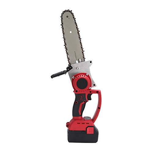 GLJ 21V Lithium Battery Portable Electric Saw, 8 Inch Single Hand Cordless Chainsaw, Lightweight and Convenient Mini Cordless (Size : 2 Batteries)