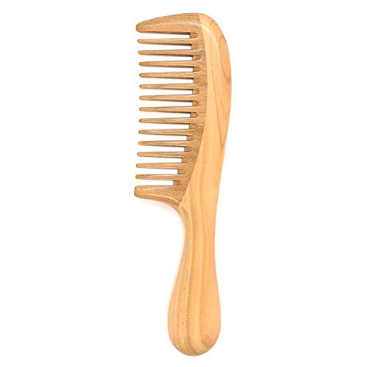 ボランティアセグメント魔術Tinfun Natural Green Sandalwood Hair Comb Wooden Comb (Wide Tooth) for Curly Hair Detangling - No Static, Prevent Tangle, Handmade [並行輸入品]