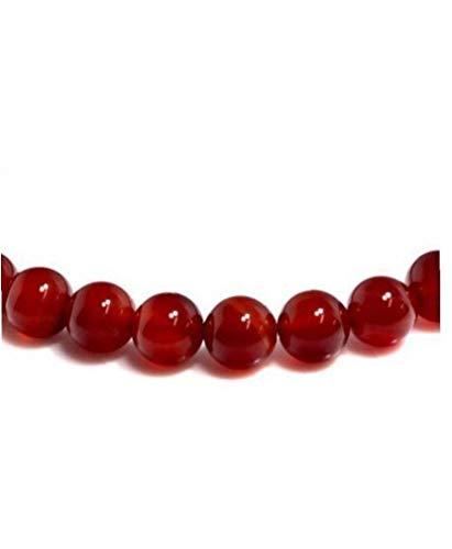 Natural Red Agate Bead Bracelet Red Bracelet Bangles Pendant Bracelet for Girls Women Glamour Jewelry Red 8Mm