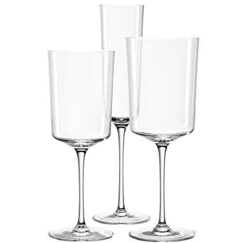 Leonardo NONO Kelchglas, Weißwein, Rotwein-und Sekt, spülmaschinengeeignete Kelch-Gläser, 18er Set, 028060