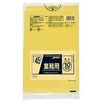 (まとめ) ジャパックス カラーポリ袋 黄 45L CY45 1パック(10枚) 【×20セット】