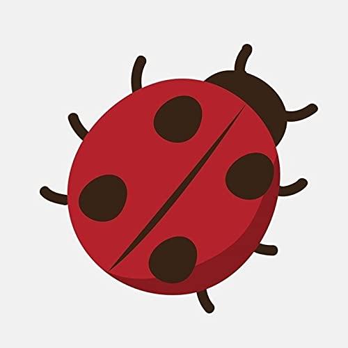 ZCZWQ 14.1 cm * 13.2 cm Etiqueta engomada del Coche del Vinilo de la Mariquita del Punto del Rojo del Insecto