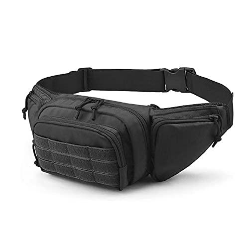 DMAIP Tactical Gun Case Concealed Pistol Pouch Carry Waist Bag Portable Handgun Holster Soft Pistol Cases (Black)