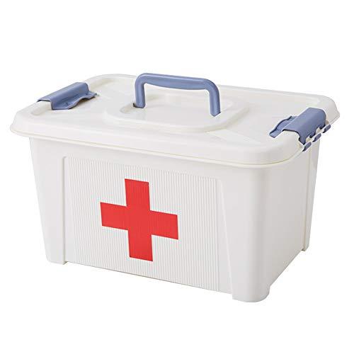 Matériel médical de boîte-PP, simple portable portable étanche à l'humidité de la poussière anti-insectes grande capacité, famille petite boîte à médecine familiale boîte à médecine familiale famille