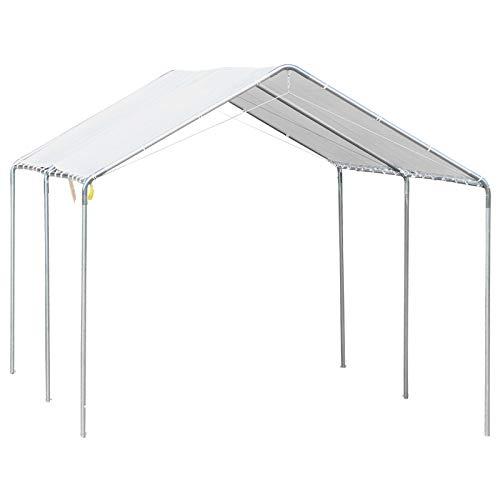 Outsunny 3 x 6m Heavy Duty Carport Garage Car Shelter Galvanized Steel Outdoor Open Canopy Tent Water UV Resistant Waterproof