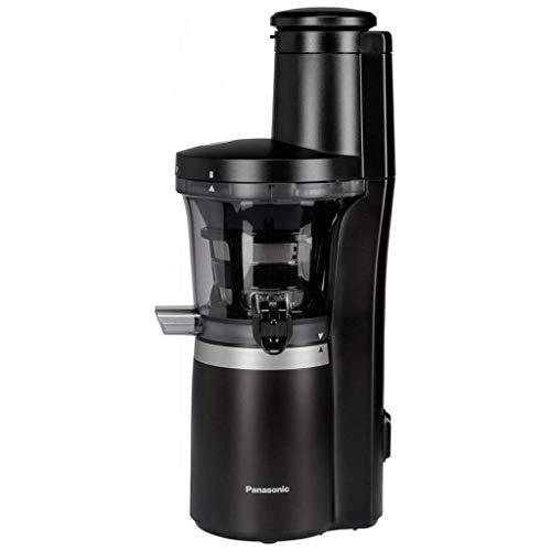 Panasonic Slow Juicer MJ-L700 - Licuadora para frutas y verduras, exprimidor automático, fabricación sorbete, acero inoxidable, plástico, 150 W, color negro mate