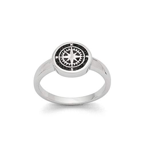 "DUR Damen Ring\""Kompass\"" aus 925er Silber Größe 52 (16.6) R5158.52, 52 (16.6)"
