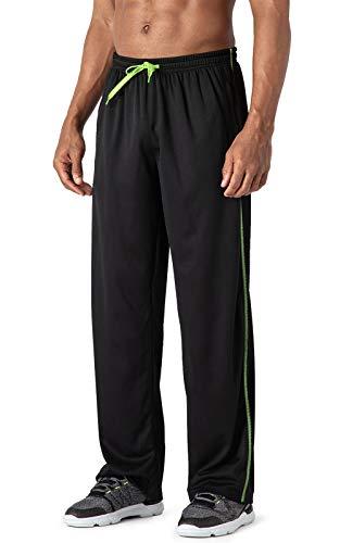 MAGCOMSEN Herren Fitnesshose Jogging Sommerhose Lang Trainingshose Outdoor Sporthose Herrenhose Lässige Jogginghose Loose Fit Freizeithose Pyjamahose mit Taschen Schwarz 34