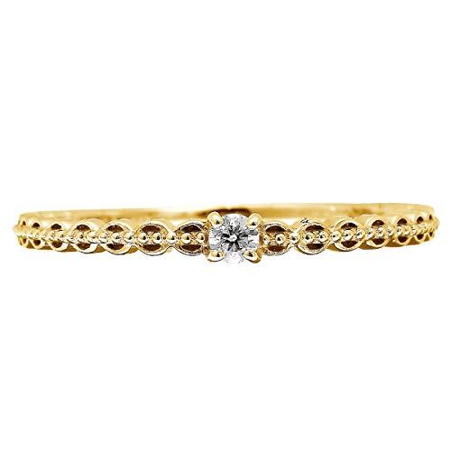 [ココカル]cococaru ダイヤモンド リング K10 ピンクゴールド 指輪 21号 天然 ダイヤ 日本製