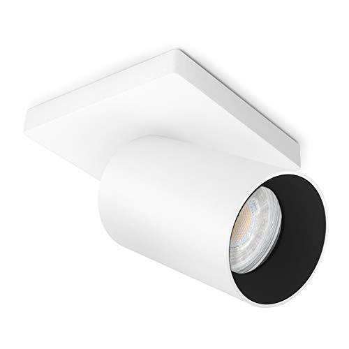 SSC-LUXon ALVO 1 Wandspot Deckenspot LED in weiß & schwarz einflammig - verstellbare Deckenlampe inkl. GU10 LED 6W warmweiß