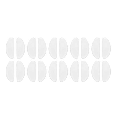 YEVYG Durable 10 Pair Glasses Nose Pads Adhesive Silicone Nose Pads Non-Slip White Thin Nosepads for Glasses Eyeglasses Sunglasses Eyeglass Sunglass (Color : 10pairs)