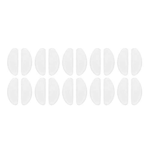 YEVYG Durable 10 Pares Gafas Almohadillas Nasal Adhesivo Silicona Almohadillas de Nariz Antideslizante Blanco Delgadas Finas pasadoras para Gafas Gafas de Sol Gafas de Sol Gafas de Sol de anteojos