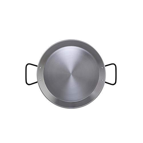 Metaltex Paellapfanne aus poliertem Stahl für Induktionsherde mit 4 Rationen 30 cm