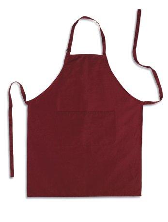 Küchenschürze - Grillschürze - Latzschürze, BORDEAUX, 100% Baumwolle, 70 x 85 cm, mit verstellbarem Nackenband und aufgesetzter Tasche vorne.