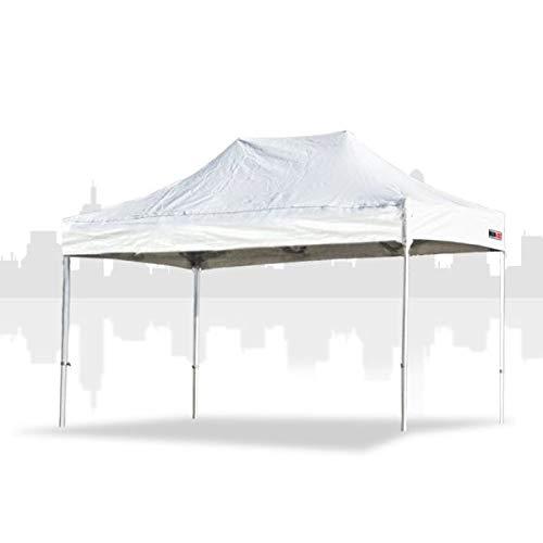 Main-Zelt Tienda de campaña de 4 x 6 m (PVC) sin Paredes Laterales, Cabina de Mercado, Carpa de Ventas, Carpa Plegable, Estructura Variante de Negocios