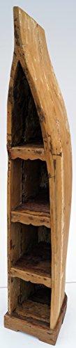 Guru-Shop Bootplank, Wijnrek, Boekenplank van Oude Scheepsromp 200 cm - Boot 14, Bruin, Boeken-Wandplanken