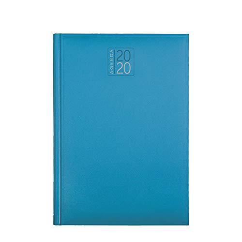 Agenda settimanale 2020 AGENDEPOINT.IT sintetico morbido liscio 17x24 azzurro