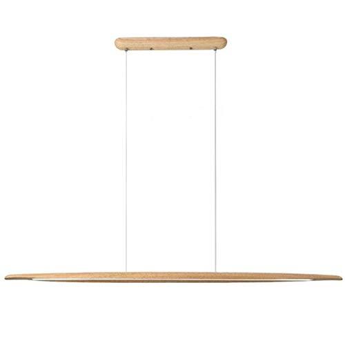 LED Pendelleuchte Modern design Hängelampe Hängeleuchte aus Holz Pendellampe Dimmbar Pendelleuchten maximum 130 cm höhenverstellbar Kronleuchter für Esszimmer Wohnzimmer Schlafzimmer Innenleuchte