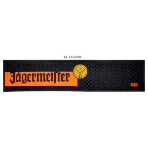 Jägermeister Barmatte Gummimatte Bar Unterlage schwarz orange gelb ca. 13 x 59cm