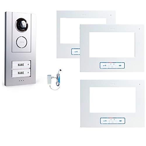 Vistus VD 6721 Video Türsprechanlage für 2-Familienhaus + 3 Innenstation VD6721