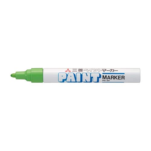 三菱鉛筆 ペイントマーカー 中字【黄緑】PX-20.5 5個セット