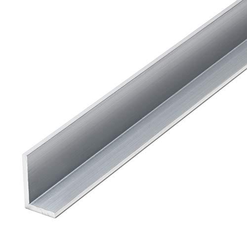 thyssenkrupp Winkelprofil Aluminium 25 x 20 x 2 mm in 2450 mm Länge | Aluwinkel ungleichschenklig | EN AW-6060