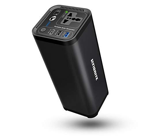 Litionite Hurakan 200W / 41600mAh Power Bank/Externe Batterie/klein Tragbarer Elektrisch Stromgenerator - 1x AC Netzsteckdose - 3X USB - Ladegerät für Smartphone/Laptop/Drohne/Tablet/CPAP/PC/MacBook