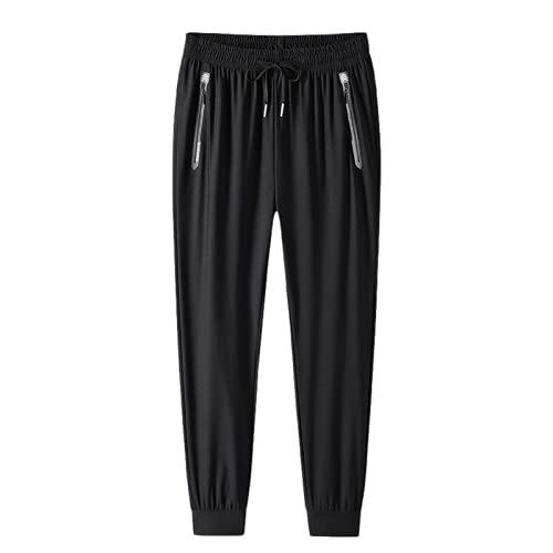 Pantalones Casuales para Hombre Verano Tallas Grandes para Correr al Aire Libre Pantalones Sueltos con Bolsillos y cordón L