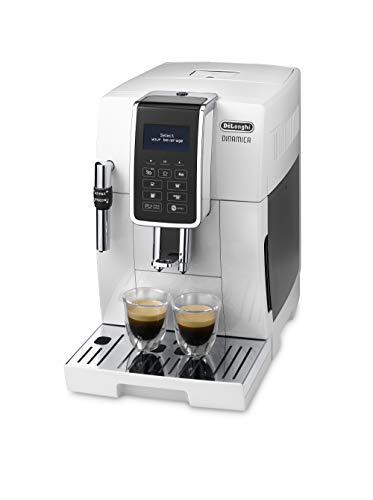 De'Longhi DINAMICA ECAM 350.35.W - Vollautomatische Kaffeemaschine, 1.8 l, weiß–(freistehend, Maschine Espresso Kaffeemaschine, weiß, LCD-Display, 1,8l)