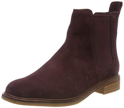 Clarks Damen Clarkdale Arlo Chelsea Boots, Braun (Burgundy), 39.5 EU