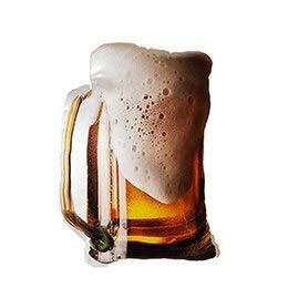 ZYYJG Almohada de simulación creativaAlimento Realista de Peluche de Felpa de Vidrio de Cerveza Carne Asada Pato estofado Cerdo Almohada Barbacoa Bebida Suave Snack Prop cojín Beer Glass