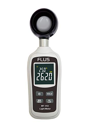 Digital Light Lux Meter Temperature 0-200000 Lux Illuminometer Luminometer Photometer Lux/FC Tester Light Meter