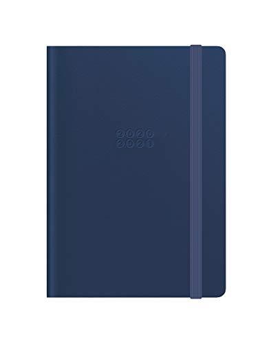 LETTS – 1 Mehrsprachiger Terminkalender Edge – 1 Woche auf 1 Seite + 1 Seite Notizen – Format A6: 10 x 15 cm – Einband Marineblau – 18 Monate Juni 2020 bis Dezember 2021