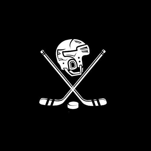 BDDLLM Autoaufkleber 15,2 cm * 15,8 cm Auto Stil Persönlichkeit Eishockey Helm Vinyl lustige Auto Aufkleber schwarz Silber S2-0590Silber