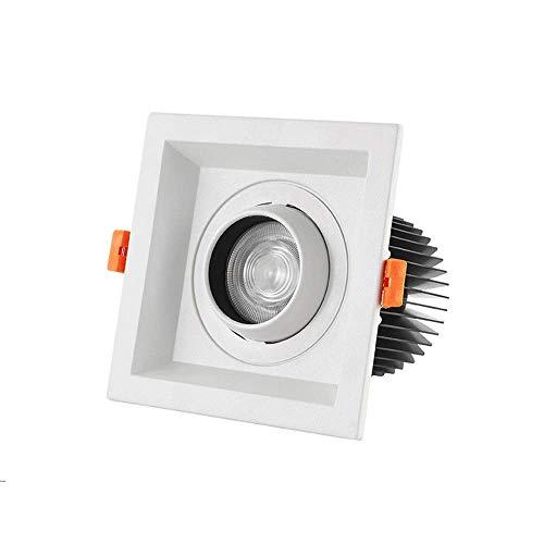 Foco cuadrado giratorio LED Lámparas planas de techo empotradas clásicas Aluminio blanco empotrado ultra brillante empotrable for...