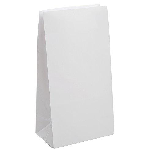 Partytaschen aus Papier - Weiß - 12er-Pack
