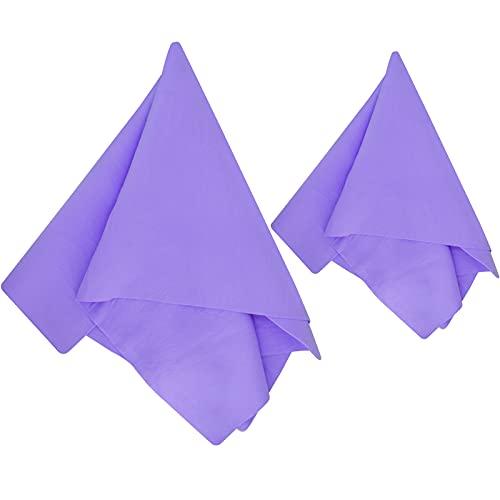 Paquete de 2 paños de gamuza para coche – Toalla de secado absorbente suave sintética para coche y barco, suministros de limpieza y secado (morado)