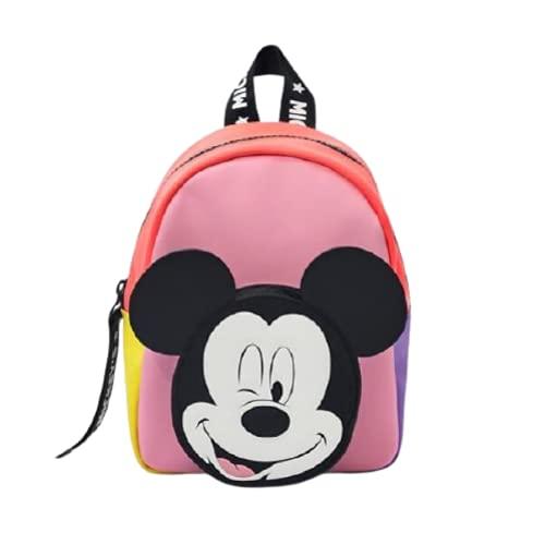 letaowl Zaino Mickey Minnie Mouse Cartoon Bambini Borsa Toddler Boy Girls Topolino Paperino Stampa Zaino Kids Girls Schoolbag
