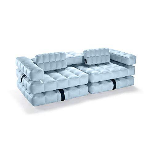 Pigro Felice Modul'Air 3-in-1 zwembad float/dubbele ligstoel opblaasbare sofa, PVC-kunststof, azuurblauw, 234 x 117 x 72 cm