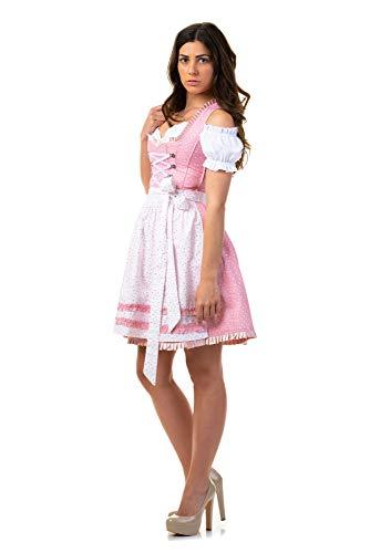 Trachtl.de Dirndl Trachtenkleid Damen Tina IN ROSA 2.TLG 36