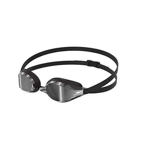 Speedo Fastskin Speedsocket 2 Mirror Gafas de Natación, Unisex Adulto, Negro/Cromo, Talla Única