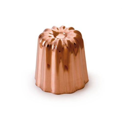 MAUVIEL M'passion 4180.55 - Lot de 8 Moules à Cannelé Cuivre intérieur étamé - Diamètre : 5,5 cm
