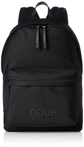 HUGO Herren Record_backpack Rucksack, Schwarz (Black), 16x44x30 cm (B x H x T)