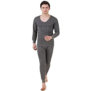 HAP Kings Quilted Thermal Set: V Neck Top + Trouser (Dark Grey)/ Body Warmer/Cosy Winter Innerwear 3 31zwQU2Ll8L. SS300
