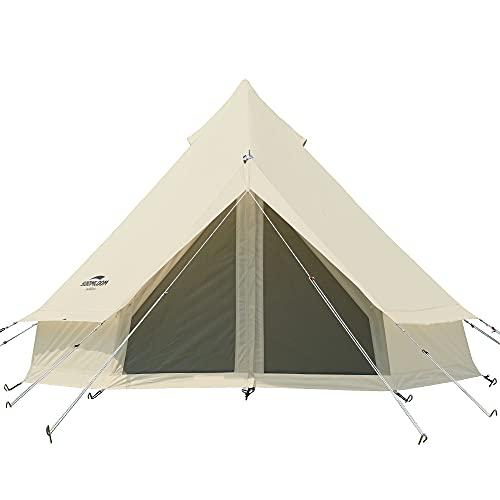 画像1: 2万円格安ベル型テント『All.in 3mテント』が登場! カップル・ファミリーサイズのテントをキャンプ系YouTuber FUKUが徹底レビュー