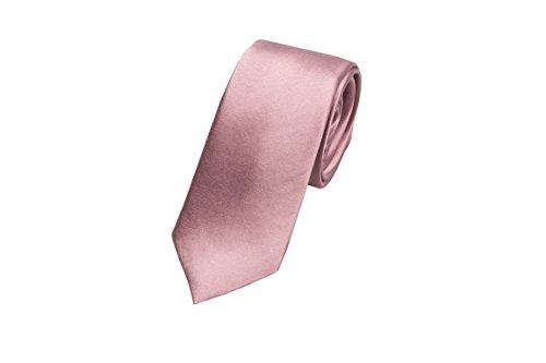 Notch Schmale Krawatte aus Seide für Herren - Einfarbig Mauve oder blasses Rosa